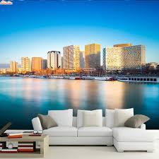 popular city skyline wall murals buy cheap city skyline wall shinehome city skyline wallpaper seaside architecture room background wallpaper roll 3d for livingroom wall