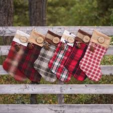 Christmas Tree Decorated With Stockings by Rustic Christmas Stockings Learntoride Co