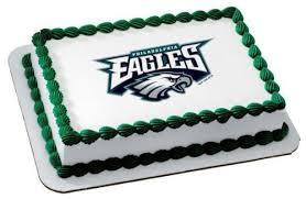 Nfl Decorations Amazon Com 1 4 Sheet Nfl Philadelphia Eagles Football Edible