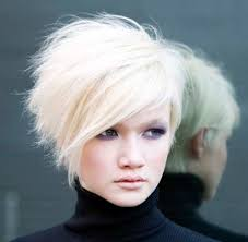 haircuts for white hair short stacked hairstyles for white hair cool trendy short