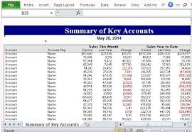 Strategic Planning Template Excel Summary Of Key Accounts Excel Template For Sales Strategy Planning