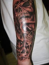 skull half sleeve tattoos 51 skull tattoos for and