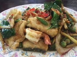 cuisine spicy ผ ดฉ าทะเล spicy seafood stir fry cuisine อาหารไทย