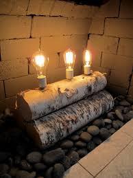 christie chase 581 birch log lamp
