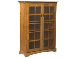oak bookcases with glass doors bookcases amish furniture by brandenberry amish furniture