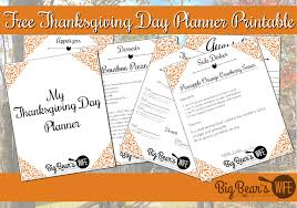 free thanksgiving day planner printable big s