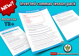 new ks2 inverted commas lesson pack grammarsaurus