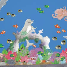 Under The Sea Decoration Ideas Under The Sea U0026 Ocean Themed Bedroom Undersea Wall Decor