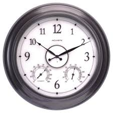 the 24 outdoor lighted atomic clock 24 metal outdoor indoor wall clock with illuminated face