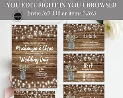 rustic wedding invitation rustic wedding invitation etsy