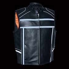 motorcycle jacket vest men u0027s reflective band u0026 piping zipper front vest bikers gear