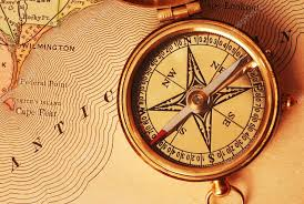 map of usa with compass antique brass compass usa map stock photo haveseen