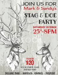 stag and doe party invitation template stock photos freeimages com