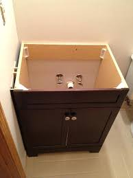 How To Install Bathroom Vanity Top Install A Bathroom Vanity Waste Pipe Configuration For Bathroom