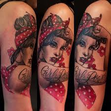 pin up tattoos all things