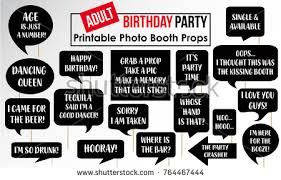 photo booth party props photobooth prop vector set free vector stock