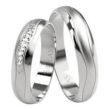 snubni prsteny okra silver elegantní stříbrné snubní prsteny brilas