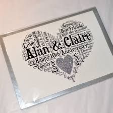 10th year wedding anniversary personalised 10th wedding anniversary sparkle card by sew