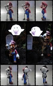 halloween paper craft skull mario halloween papercraft by brspidey on deviantart