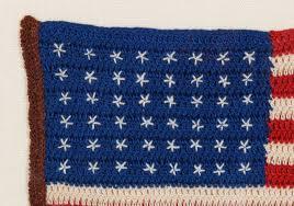 Us Flag 1860 48 Stars Crochet American Flag At 1stdibs