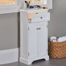 Slim Bathroom Furniture Weatherby White Bathroom Cabinet Its Slim Design And Small