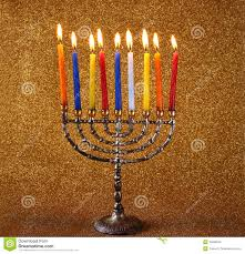 hanukkah candles colors hanukkah menorah with burning candles royalty free stock photo