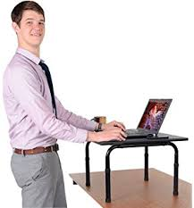 Convert Normal Desk To Standing Desk Amazon Com Stand Steady Original Standing Desk Large Surface