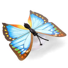6pcs 7 color led colorful decorative butterfly shaped