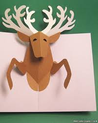 reindeer pop up card craft cards and christmas cards