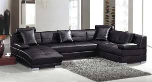 Black Microfiber Sectional Sofa Sectional Sofa Design Leather With Chaise Lounge In 10