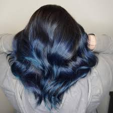 white hair with black lowlights blue black hair 2018 s most popular shades are right here