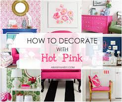 decorate with pink in your home