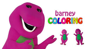 barney coloring pages coloring episode barney color