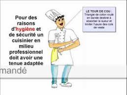 tenue professionnelle cuisine la tenue du cuisinier