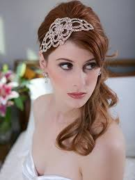 great gatsby hair accessories gold headpiece wedding deco great