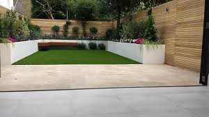 travertine paving patio render block raised beds hardwood floating