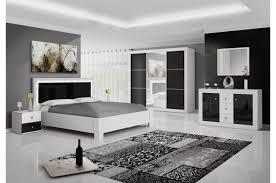 chambre a coucher noir et blanc meuble oreiller matelas