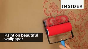 what type of paint roller to use on kitchen cabinets this patterned roller lets you paint on beautiful designs