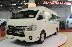 toyota hiace 2015 10 seater toyota price may be 40 lakhs launch second half