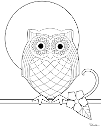 awesome owl to print out for the kiddos to color at a origami owl