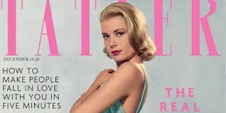 grace kelly covers tatler in iconic 1955 edith head dress photo