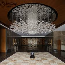 modern hotel lobby custom made chandelier light for low ceiling
