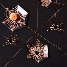spider web plate halloween party plates paper plate