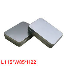 gift card tin size 115x85x22mm rectangle plain tin box gift card tin box metal