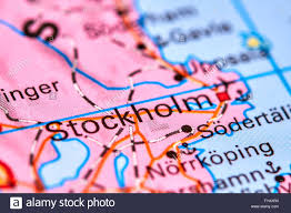 World Map Sweden by Stockholm Capital City Of Sweden On The World Map Stock Photo