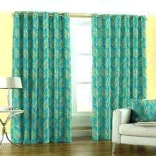 Yellow White Curtains Teal And White Curtains Cotton Canvas Grommet Curtain White Teal