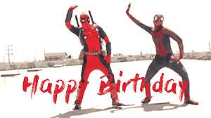 Happy Birthday Meme Gif - funny deadpool happy birthday gif gif pinterest deadpool