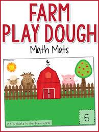 free printable shape playdough mats farm yard play dough counting mats prekinders