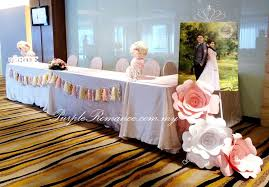wedding backdrop setup pastel colour paper flower wedding decoration park royal kuala