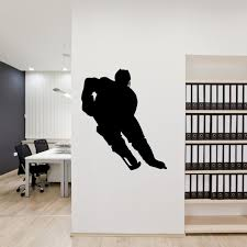 amazon com hockey wall sticker decal 1 decal stickers and mural amazon com hockey wall sticker decal 1 decal stickers and mural for kids boys girls room and bedroom sport wall art for home decor and decoration ice